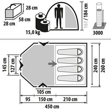 Berger Tunnelzelt Campo 4-L Deluxe 4 Personen