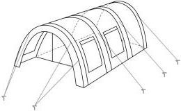 CampFeuer Tunnelzelt 5000mm