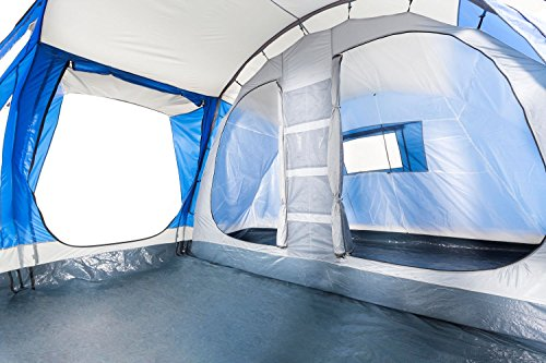 Tunnelzelt CampFeuer blau/grau