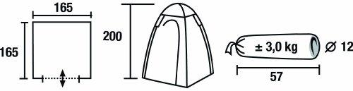 High Peak Zelt Aquadome Toilettenzelt Beistellzelt