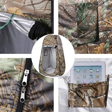 OUTAD Camouflage Toilettenzelt Beistellzelt